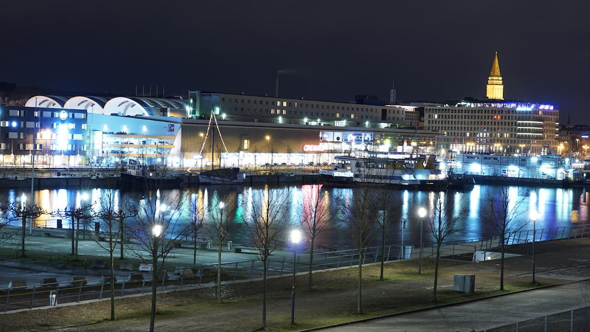 Kiel Nachtaufnahme