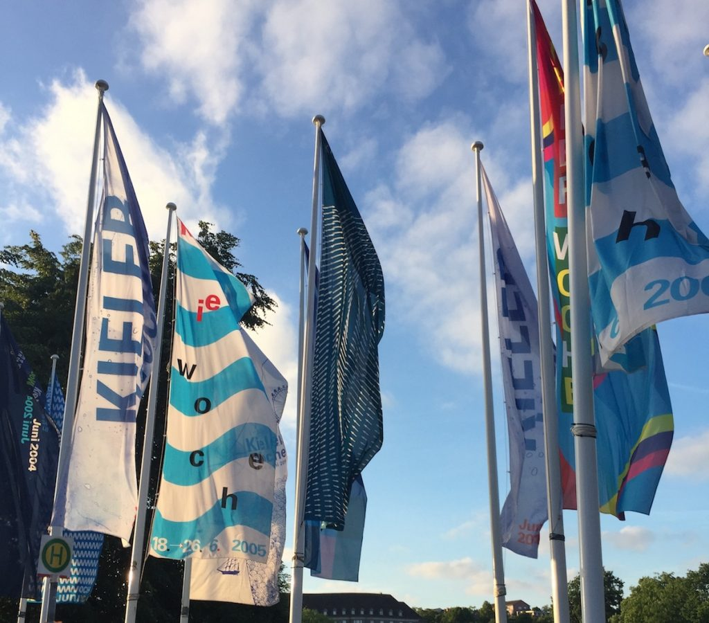 Flaggend der Kieler Woche